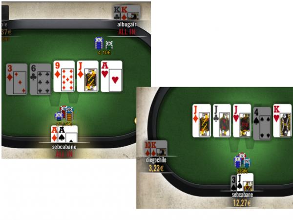 2 Petits coups de chatte en Cash 20+20 (ca change de la table du mercredi)