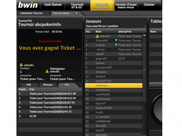 une victoire hier soir 1/35  gains 17.07¤ + un ticket a 20 ¤