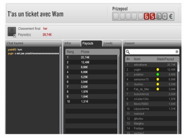 1 victoire pour moi sur la ligue wam 1er/73 et 2 TF sur barriere