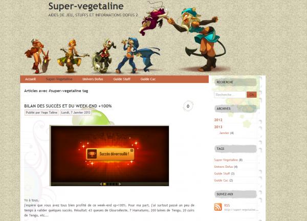 """3 nouveaux article sur """"http://super-vegetaline.overblog.com/"""""""