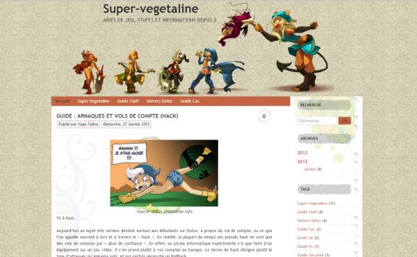 Nouveaux Articles et MAJ d'anciens sur http://super-vegetaline.overblog.com