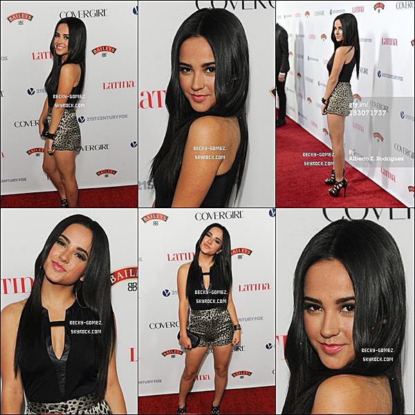 "03.10.2013 - Becky à la Latina Magazine ""Hollywood Hot List"" Party."