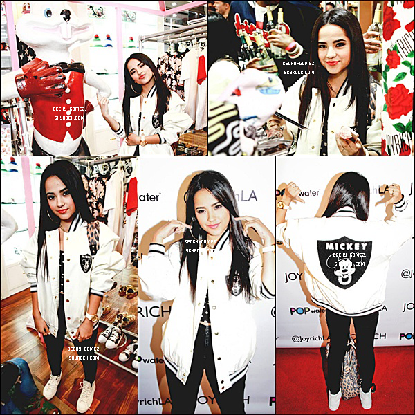 17.10.2013 - Becky était à la Joyrich Disney Collaboration Release Party.