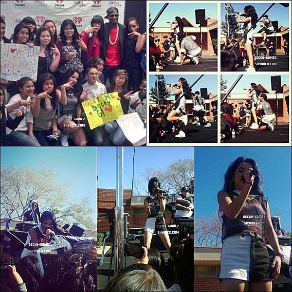 05.11.2013 - Becky a fait un concert dans l'école Alder Middle School.