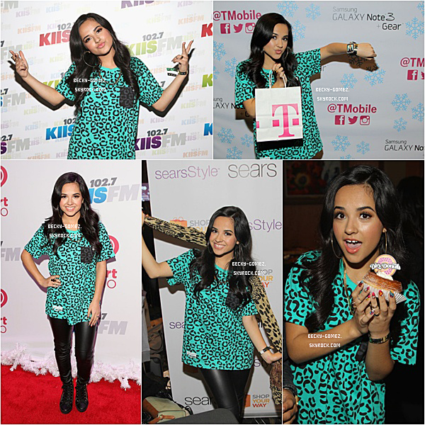 06.12.2013 - Becky était au 102.7 KIIS FM's Jingle Ball.