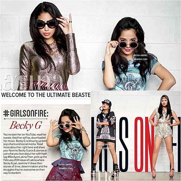 Becky fait la couverture du magazine «Latina» avec Jasmine Villegas.