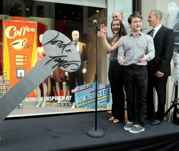 How to Succeed - Dan, John & Rose unveil H2$-themed window display at Lord & Taylor (2)