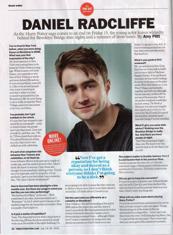 Time Out Interview - July 2011