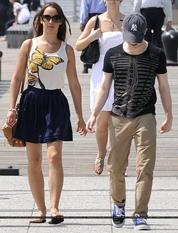 Dan walking with Rosanne Coker in New York
