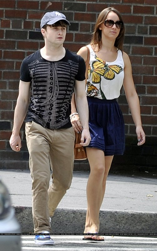 Dan walking with Rosanne Coker in New York