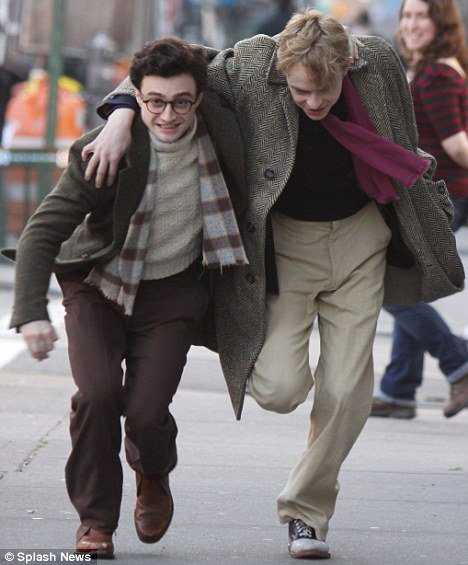 Kill your Darlings - First shots of Dan as Allen Ginsberg!! (2)