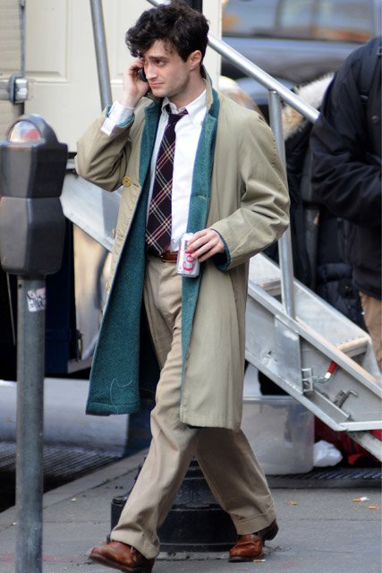 Kill your Darlings - First shots of Dan as Allen Ginsberg!! (8)