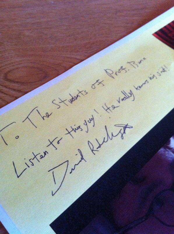 Kill your Darlings - Note from Dan