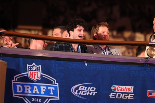 Dan attends the NFL Draft in NYC