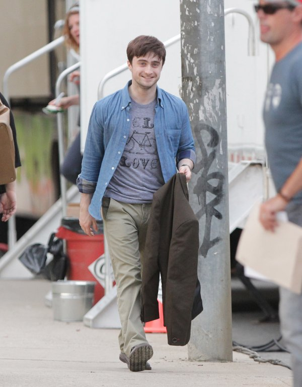 First pictures of Dan as Wallace in The F Word! :D
