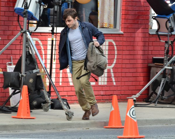 The F Word - Pictures on set (Aug 20)