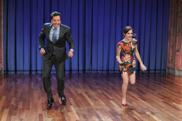 Emma dances with Jimmy Fallon!