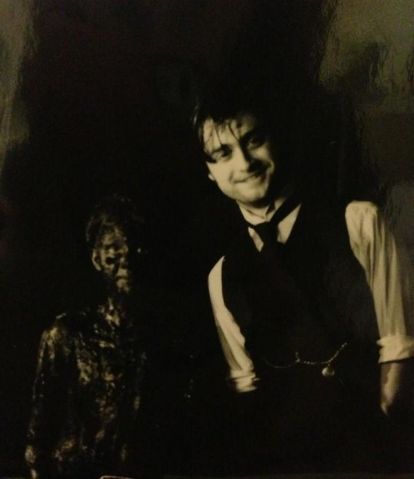 On the set of The Woman in Black