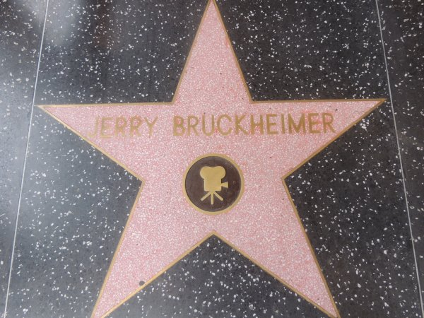 On Hollywood Walk of Fame