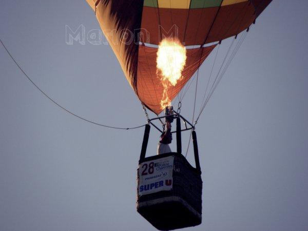 Une Montgolfière? Vous avez dis une montgolfière? Où ça?