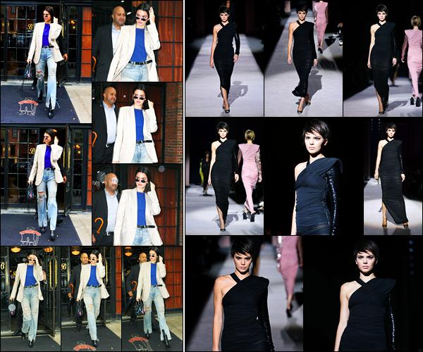 06.09.2017 ─ Kendall Jenner a été photographiée alors qu'elle quittait le « Bowery Hotel » étant à New-York City.Dans la journée, la belle mannequin Kendall a défilé pour le créateur Tom Ford pour la fashion week. Concernant ses tenues, c'est des tops pour ma part