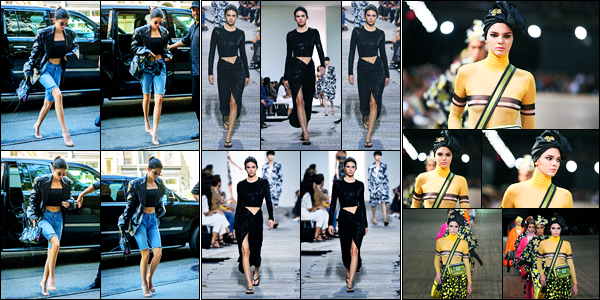 13.09.2017 ─ Kendall Jenner a été photographiée alors qu'elle se promenait,  étant dans East Village, New-York C.La belle a ainsi défilé pour le styliste Michael Kors ainsi que Marc Jacobs... On va pas parler de la fashion week... Je ne suis pas fan de sa première tenue.
