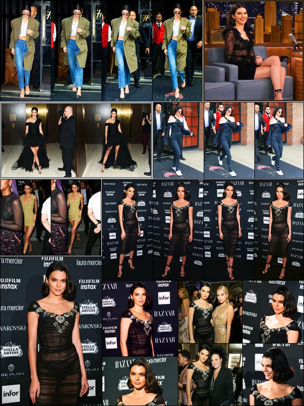08.09.2017 ─ Kendall Jenner était présente lors de la soirée « Harper's Bazaar Icons », étant dans New-York City.La veille, K. a été photographiée dans les rues à Manhattan. Ainsi que le lendemain, à New-York, le soir elle quittait le lancement du livre Mert & Marcus.