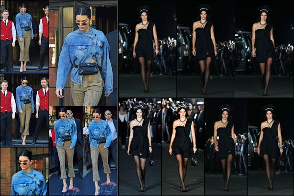 09.09.2017 ─ Kendall Jenner a été photographiée alors qu'elle se promenait dans les rues, étant dans New-York.Plus tard, la belle a défilé pour le célèbre couturier Alexandre Wang, tout comme Bella Hadid, son amie... Concernant les tenues, c'est jolie, c'est un top !