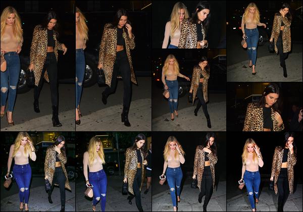07.05.2016 ─ Kendall Jenner a été photographiée arrivant puis quittant le « The Nice Guy » dans West Hollywood.La jeune mannequin K. été accompagnée de sa grande soeur, Khloe Kardashian... Concernant la tenue de la belle Kendall Jenner, c'est top, tout simple...