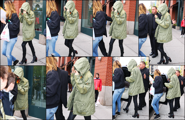 02.05.2016 ─ Kendall Jenner a été photographiée alors qu'elle quittait l'appartement de Kanye West  à New-York.En ce début de journée, Miss K. Jenner a été vue rejoignant une voiture, afin de débuter les préparatifs pour le MET Gala, qui aura lieu dans la journée !
