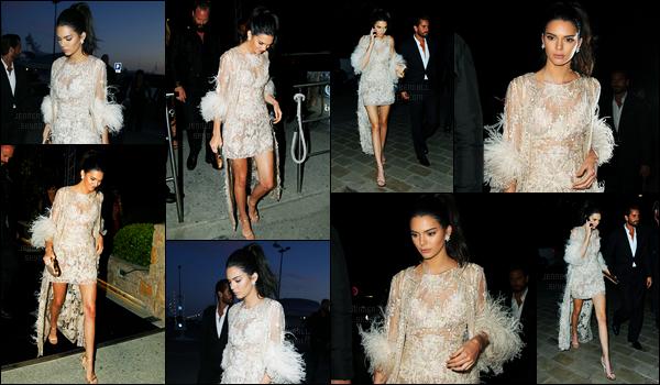 16.05.2016 ─ Kendall Jenner a été photographiée arrivant et quittant le dîner à Bâoli Beach, qui est dans Cannes.La jeune mannequin est apparue dans une robe blanche un peu transparente. C'est pour ma part un très jolie top, et vous ? Donnez moi votre avis !