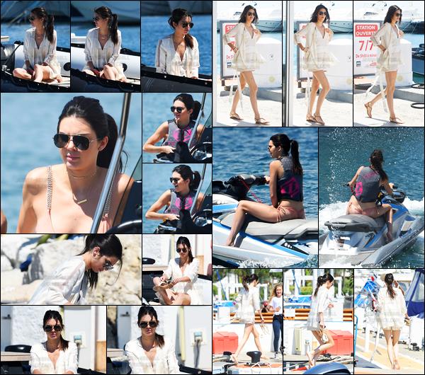 15.05.2016 ─ Kendall Jenner a été aperçue alors qu'elle rejoignait le Yatch de Roman Abramovich à Cannes en FR.La jeune mannequin été accompagnée de sa maman, Kris Jenner. Kendall profite de son temps dans Cannes, Kendall a même fait un peu de jet-ski!