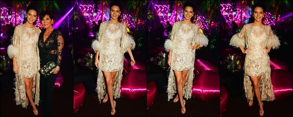16.05.2016 ─ Kendall Jenner était présente à l'événement « Chopard Wild Party » au Port Canto dans Cannes, FR.La jeune mannequin est apparue dans une robe brodée de plume d'autruche signé par Elie Saab. C'est pour ma part un très jolie top, et vous, avis ?