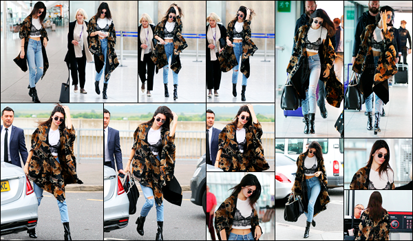 27.05.2016 ─ Kendall Jenner a été photographiée alors qu'elle arrivait à l'aéroport Heathrow, qui est à Londres.La mannequin a donc quitter Londres pour rentrer à Los Angeles puisque que après quelques heures de vols, elle a été photographiée arrivant à LAX.