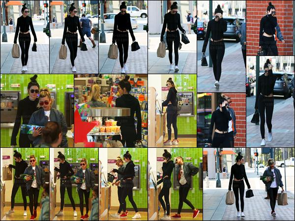 29.05.2016 ─ Kendall Jenner a été photographiée alors qu'elle faisait du shopping, avec Hailey dans Beverly Hills.La jeune mannequin été donc accompagnée une nouvelle fois de son amie qui est mannequin également. Le rituel du legging noir est de retour, top !