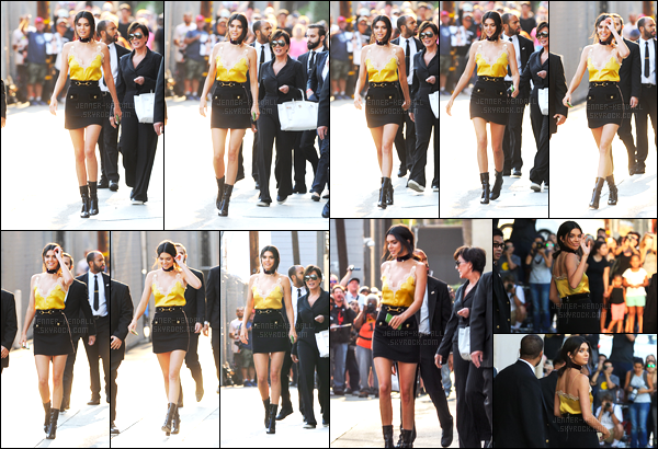 24.08.2016 ─ Kendall Jenner a été photographiée arrivant, puis, quittant chez Jimmy Kimmel, dans Los Angeles.La jeune mannequin, s'est rendue au live de Jimmy Kimmel. Concernant sa tenue, c'est un beau top de la belle pour ma part, et qu'en pensez-vous ?
