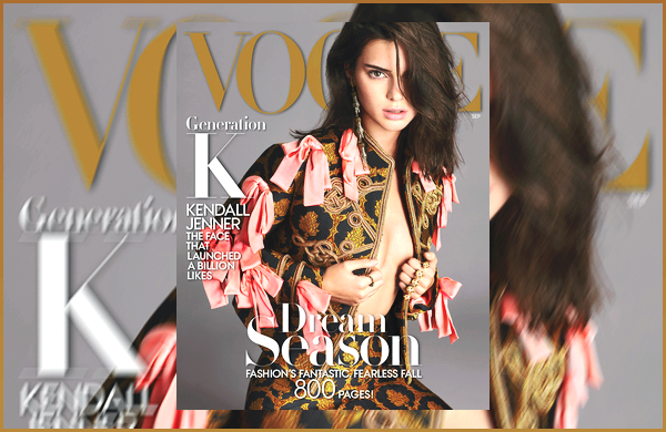 Kendall Jenner fera la couverture de « Vogue » du mois de Septembre 2016.