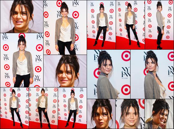 06.09.2016 ─ Kendall Jenner était présente, au Target + IMG's NYFW kickoff, à The Park dans Moynihan Station.La jeune mannequin K. était rayonnante à cette événement ! Kendall a même fait la rencontre du célèbre humouriste français Kev Adams. C'est top !