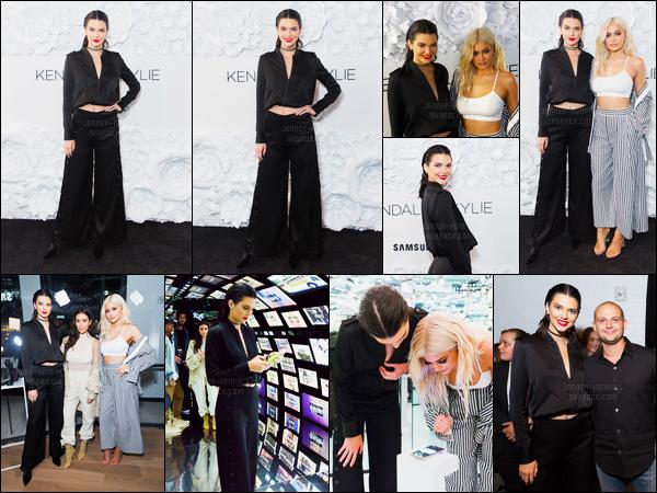 07.09.2016 ─ Kendall Jenner était présente à l'événement «Kendall+Kylie pop-up store» qui est à New-York C.La jeune mannequin a ensuite été photographiée quittant les studios du Samsung store toujours à New-York, sa tenue est un top de ma part. Avis?