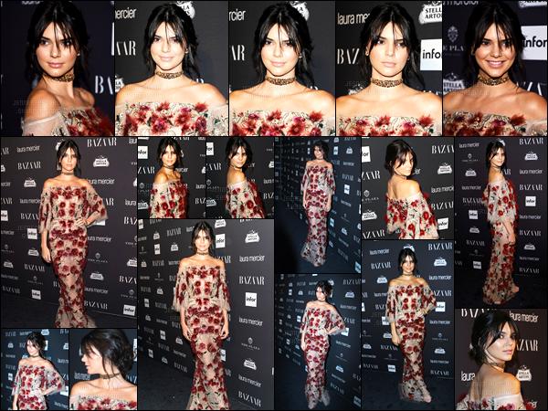 09.09.2016 ─ Kendall Jenner était présente à l'événement du magazine « Harper Bazar », dans New-York City.La jeune mannequin s'est donc rendue à l'événement organisé par Carine Roitfeld. C'est un très beau top ! Kendall a été vue quittant la cérémonie.