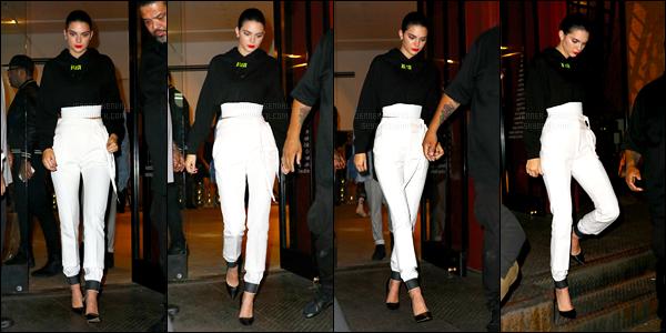 12.09.2016 ─ Kendall Jenner était présente à la soirée pour RTA's Capsule à Patron of the New dans New-York C.La jeune mannequin K. a ensuite été photographiée quittant la soirée. Et toujours dans la même tenue, c'est un top pour ma part, et vous, vos avis ?