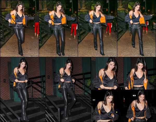 13.09.2016 ─ Kendall Jenner a été photographiée alors qu'elle arrivait au restaurant Mr Chow dans New-York C.La jeune mannequin a ensuite été photographiée alors qu'elle quittait le restaurant, cette fois, accompagnée de son amie Hailey Baldwin. C'est top.