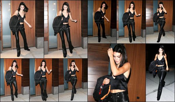 13.09.2016 ─ Kendall Jenner a été aperçue arrivant puis quittant l'appartement de Gigi Hadid dans New-York C.La jeune mannequin est donc aller rendre visite à sa BFF à son domicile, juste après avoir dîner avec Hailey Baldwin. Toujours dans la même tenue !