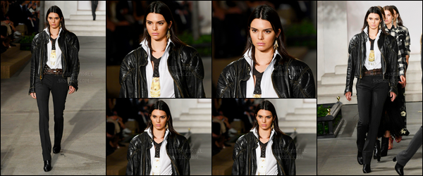 14.09.2016 ─ Kendall Jenner a défilé pour la marque «Ralph Lauren» pour Spring/Summer, pour la fashion week.La jeune mannequin enchaîne les défilés ces jours-ci ! Elle était magnifique lors du défilé, c'est un top de ma part, et vous ? Donnez moi votre avis !