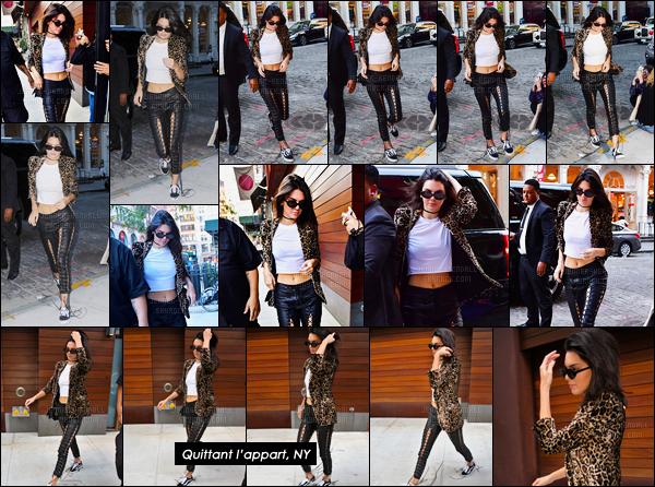 15.09.2016 ─ Kendall Jenner a été aperçue arrivant, puis, quittant l'appartement de Gigi Hadid à New-York City.La jeune mannequin s'est donc changée avant d'aller rendre visite à sa BFF. Sa tenue est plutôt jolie mais je ne suis pas fan non plus, vous, avis ?