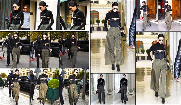 02.10.2016 ─ Kendall Jenner a été photographiée arrivant puis quittant, le défilé de Givenchy, qui est dans Paris.La jeune mannequin est rentrée et sortie avec la même tenue, elle est plutôt jolie je trouve, pour ma part. C'est donc un top, et vous, dites vos avis !