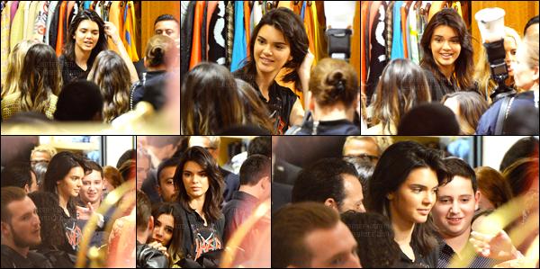 13.10.2016 ─ Kendall Jenner a été photographiée, alors, qu'elle arrivait à «Catch LA» étant dans West Hollywood.Kendall Jenner a ensuite été photographiée dans un magasin dans Beverly Hills. Concernant sa  tenue, je ne suis pas fan pour ma part, c'est un flop!