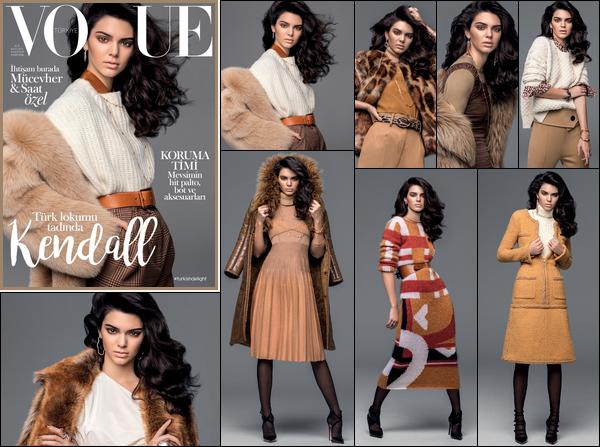 Kendall J. fera la couverture de « Vogue Turkey » du mois Novembre 2016.