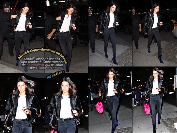 06.11.2016 ─ Kendall Jenner a été aperçue alors qu'elle arrivait au siège de Victoria's Secret, dans New-York City.Kendall Jenner participera donc au défilé le 5 décembre prochain qui aura lieu dans Paris. Concernant sa tenue, c'est un top, de la belle pour ma part !