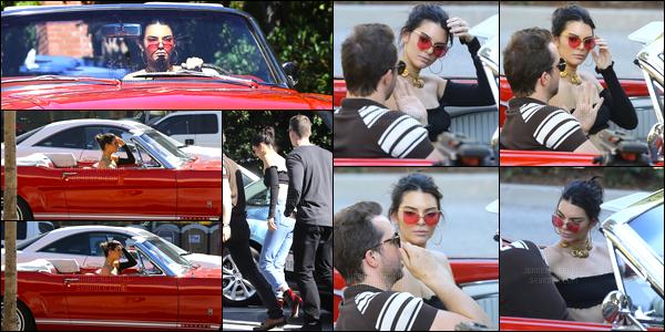 10.11.2016 ─ Kendall Jenner a été photographiée alors qu'elle était au volant de sa voiture, dans West Hollywood.Trois fois en une seule journée nous avons eu le droit à Kendall Jenner et sa voiture rouge ! Les photos ne sont pas super donc je ne met pas tout...